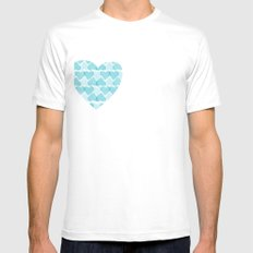 Blue, blue heart Mens Fitted Tee SMALL White