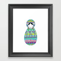 Russian Doll Framed Art Print