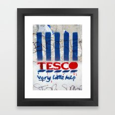 Art On The Run: Anti-Tesco Campaign, Bristol, UK Framed Art Print