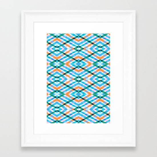 The rustic link based on tenun ikat Framed Art Print