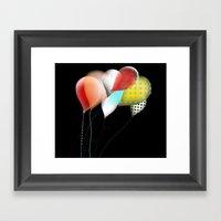 Black Retro Balloons Framed Art Print
