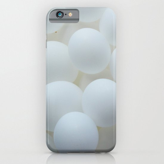 white balloons iPhone & iPod Case