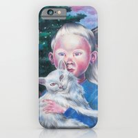 iPhone & iPod Case featuring Albino cat by Alina Gorban
