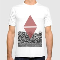 Red Walls Mens Fitted Tee White SMALL