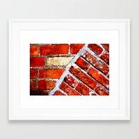 Tectonic Bricks Framed Art Print