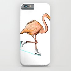 Flamingo on ice iPhone 6 Slim Case