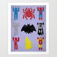 Super Heroic Minimalism … Art Print