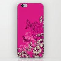 Vintage Butterfly Wallpa… iPhone & iPod Skin