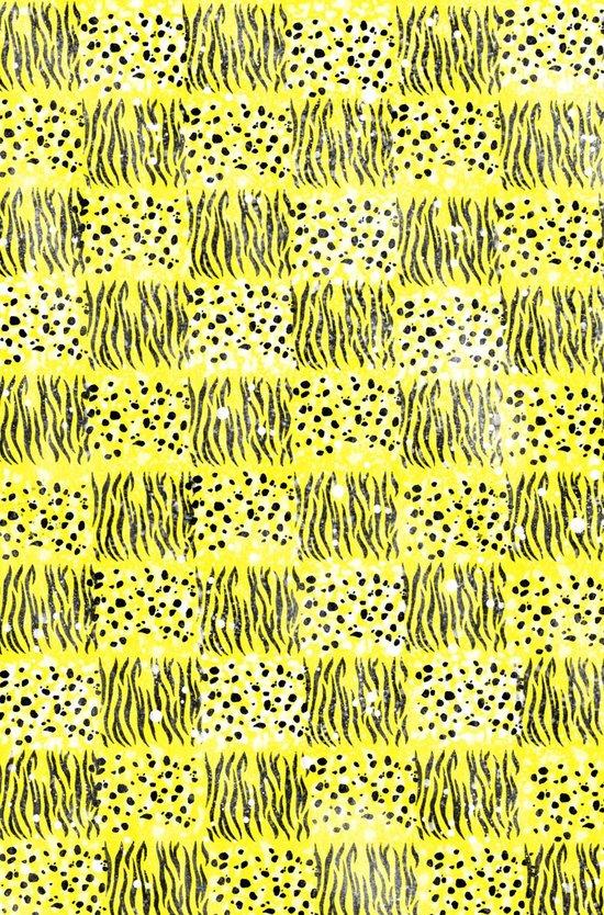 Powder Animal print Series (Yellow) Art Print