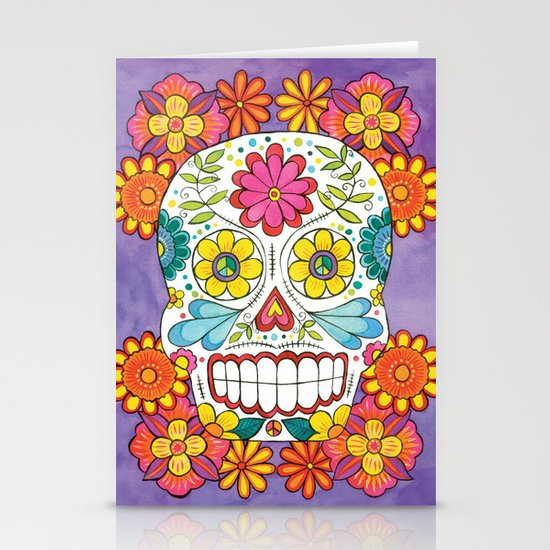 Day of the Dead Sugar Skull Stationery Card