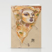 PIZZA LADY Stationery Cards