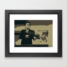 Scarface 3 Colour Print Framed Art Print