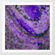 PURPLE Squared Art Print