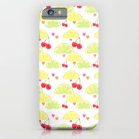 iPhone & iPod Case featuring summer fruit cocktail by cardboardcities