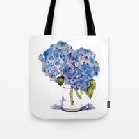 Hydrangea painting Tote Bag
