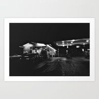Late Night Gas Station Art Print