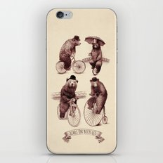 Bears on Bicycles iPhone & iPod Skin