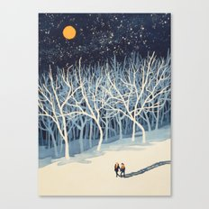 If On A Winter's Night Y… Canvas Print