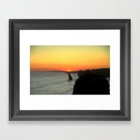 Sunsetting Over The Grea… Framed Art Print