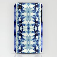 iPhone 3Gs & iPhone 3G Cases featuring Tie Dye Blues by Nina May Designs