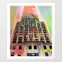 Empire State Of Art  Art Print