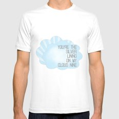 You're the Silver Lining on My Cloud Nine White Mens Fitted Tee SMALL