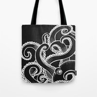 Octopus - Black And Whit… Tote Bag