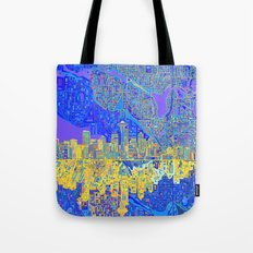 Seattle City Skyline Tote Bag