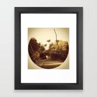 Delicate Branches Framed Art Print