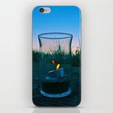Seaside flame iPhone & iPod Skin