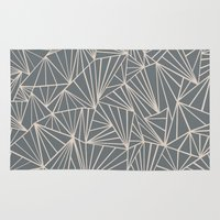 Ab Fan Grey And Nude Rug