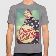 Circus Liquor, N. Hollyw… Mens Fitted Tee Tri-Grey SMALL