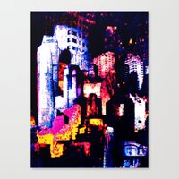 backstreets of the New York landscape  Canvas Print