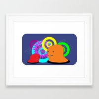 Two Creatures Framed Art Print