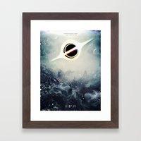 Interstellar Inspired Fictional Sci-Fi Teaser Movie Poster Framed Art Print