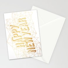 Happy New Year – White Stationery Cards