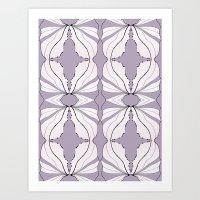 Lavender Wings Art Print