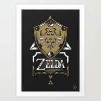 Zelda v89 Art Print