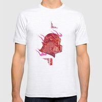 Red Darth Mens Fitted Tee Ash Grey SMALL