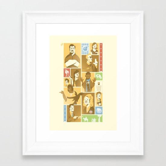 Parks & Rec - Dammit Jerry! Edition Framed Art Print