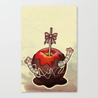SWEET WORMS 2 - caramel apple Canvas Print