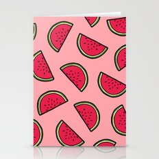 Watermelon Pattern in Pink Stationery Cards