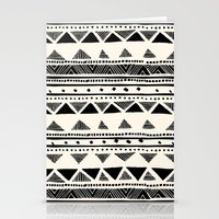 Tribal Vintage Stripe Bl… Stationery Cards