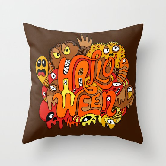 Happy Halloween! Throw Pillow