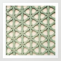 Jade Lattice Art Print