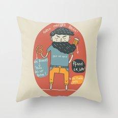 Brezel und Bier Throw Pillow