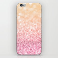 Pink and Orange Glitter iPhone & iPod Skin