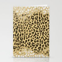 Golden Leopard Stationery Cards