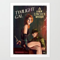 Twilight Gal Art Print
