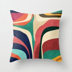 Impossible contour map Throw Pillow